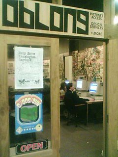 Oblong Internet Cafe in Cuba St