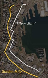 Map of the Golden and 'Silver' Miles in Wellington