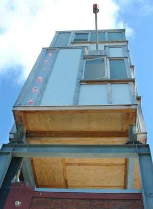 Melling:Morse's 'Skybox' in Egmont St