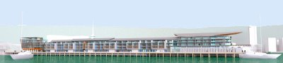 Wellington Overseas Passenger Terminal redevelopment, selected scheme: view from the east