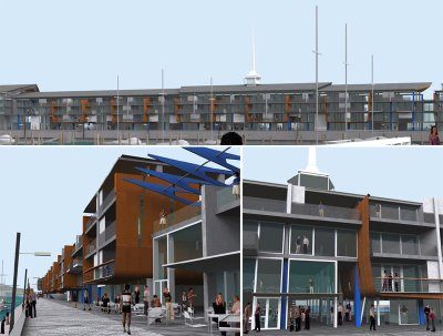 Wellington Overseas Passenger Terminal redevelopment, selected scheme: details of central section