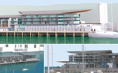 Wellington Overseas Passenger Terminal redevelopment, selected scheme: details of northern end