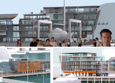 Wellington Overseas Passenger Terminal redevelopment, selected scheme: details of southern end
