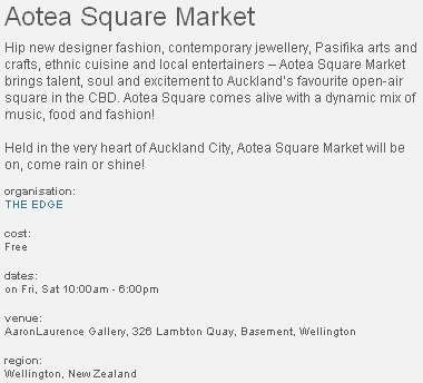 A strange location for the Aotea Square market