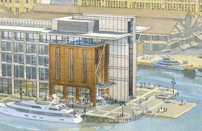 Gueens Wharf Hilton - north end detail