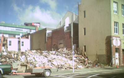 A site between Jessie and Vivian streets being demolished