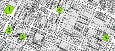 Map of Te Aro development sites