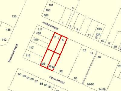 Map of LOTS 12 24 & PT LOTS 11 23 DP 322: Cadastral information derived from the LINZ CRS, Crown copyright reserved