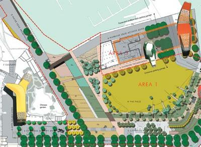 Oosterhuis Lenard Waitangi Park competition entry - overall plan