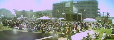 The Phoenix Foundation play at Waitangi Park, 24 February 2006