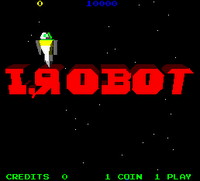 Image of I, Robot game title screen.
