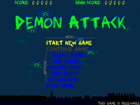 Image of Demon Attack's accessibility menu options.
