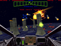 Image of the game Star Wars, first person space shoot-em-up.
