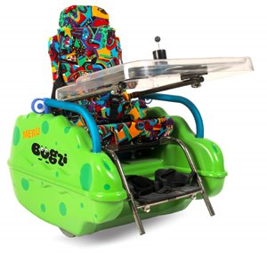 Green Bugzi Wheelchair for 1-6 year olds.