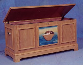 The ARK is a hopechest with a overlay intrasia design