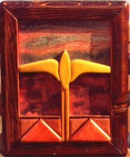 Abstract Intarsia Art