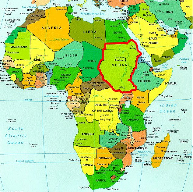 ... Map Of South Africa With Countries Labeled. on blank africa map sudan