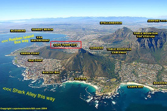 Map South Africa Towns a Map of South Africa