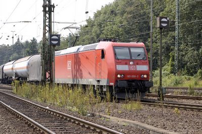 DB BR 185 059-3 Güterzug Einfahrt Eifeltor Esf