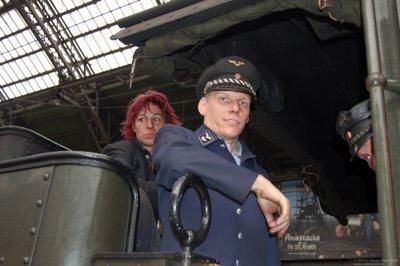 Lokpersonal des Eisenbahnmuseums Dieringhausen