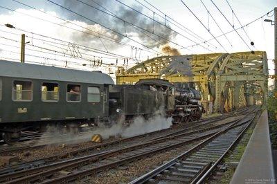 Ein letzter Blick auf den Dampfzug