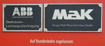 HGK DE81 Herstellerschild MAK