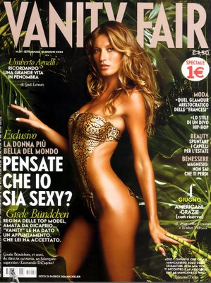 Gisele Bundchen On the Vanity Fair Cover