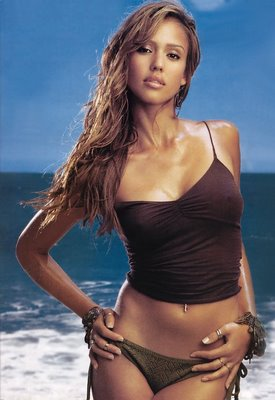 Jessica Alba -black Swimsuit