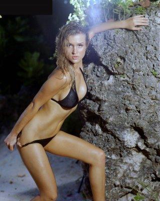 Joanna Krupa - Black Bikini