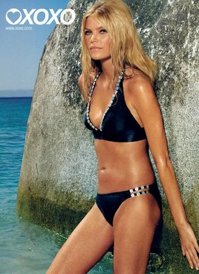 May Andersen in a black bikini for XOXO