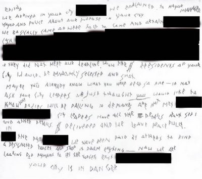 Blackmail Letter