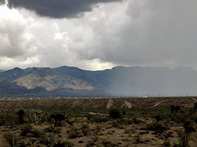 Rain Over Organ Mountains