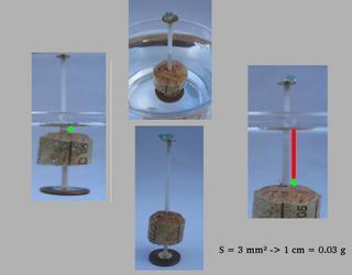 balance utilisant le principe d'Archimède