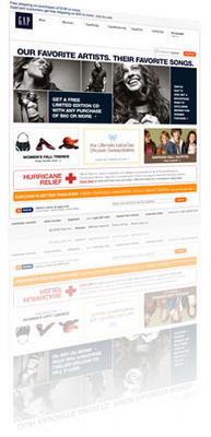 Gap.com Home Page