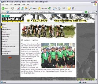 Tango and Cash and Team Ireland on the Transalp Challenge Official Home Page
