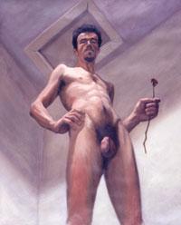'Auto-retrato com rosa', de Ricardo Leite