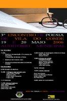 Cartaz com o programa do 3.º Encontro de Poesia de Vila do Conde