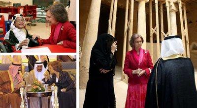 Instantâneos da visita da rainha de Espanha à Arábia Saudita
