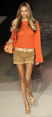 Brown shorts by Versace
