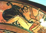 Rollito zoófilo en la erótica maya