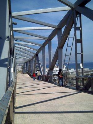 Bridge over Barcelona Forum Water