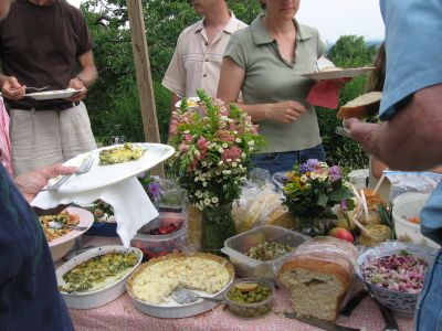 Potluck at the Levering Orchard