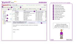 Yahoo! Mail ベータ版 サービス解説画面