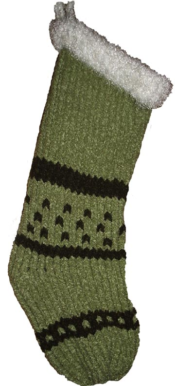 Christmas Stocking Loom Knitting Pattern : Creations by Pam: Christmas Stocking Pattern