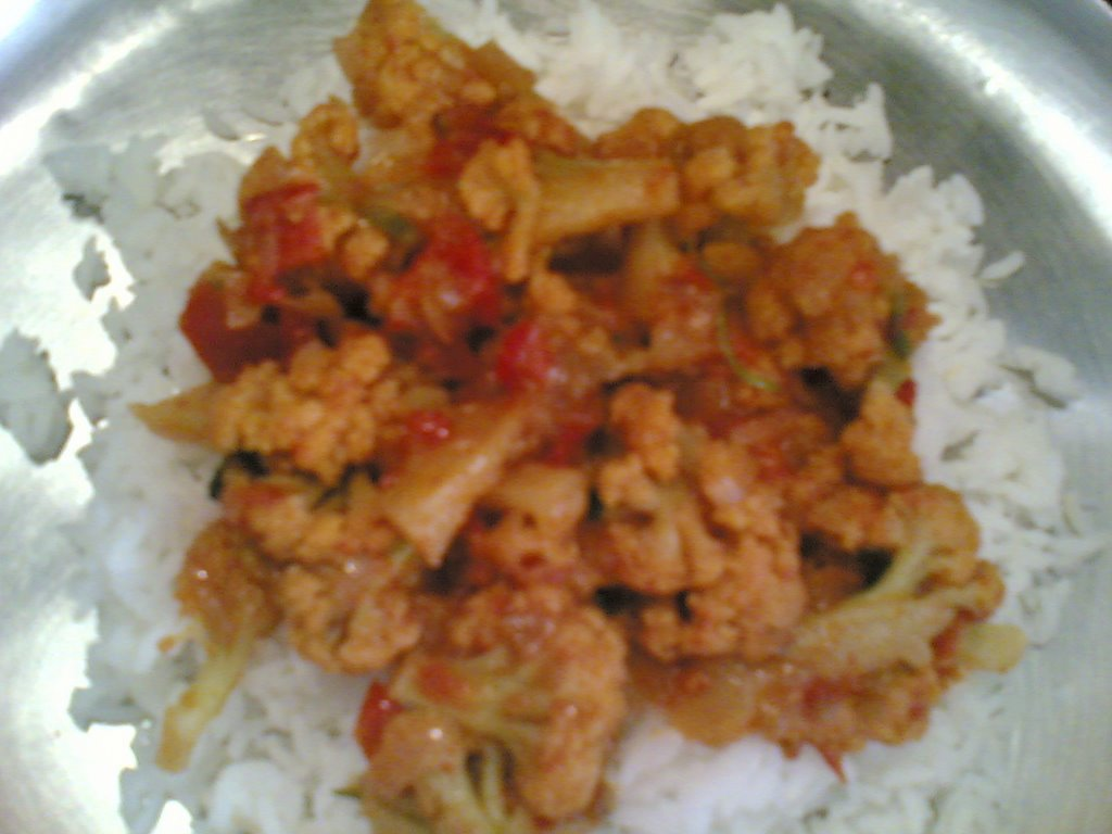 ARF #5 - Cauliflower Tomato Curry - Indian food recipes - Food and ...
