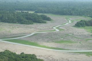 O volume de águas diminuiu em 80% em algumas regiões