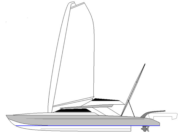 motorsailing catamaran 60ft x 15 ft with 3 double cabins, large salon ...