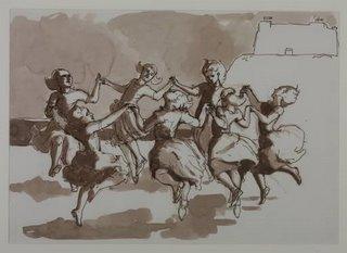 Paula Rego [n. 1935] | desenho para 'The Dance' II | 1988
