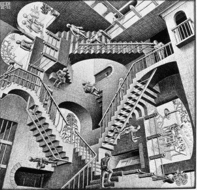 Mauritus Cornelis Escher [1898-1972] | Relativity [1953]