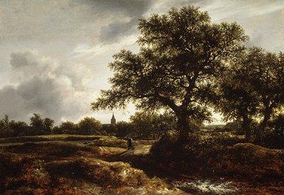 Jacob Isaacksz van Ruisdael [1628/29–1682] | Paisagem com vila ao longe | c. 1670